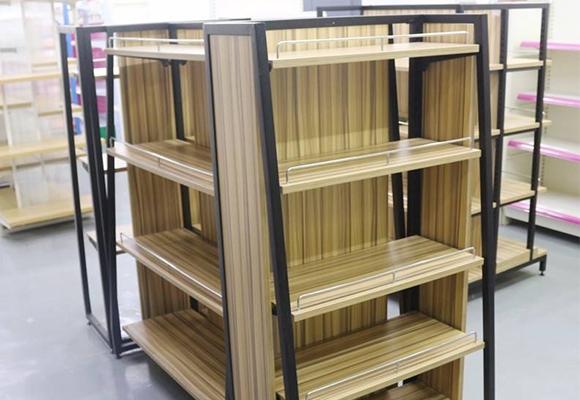 超市钢木货架定制